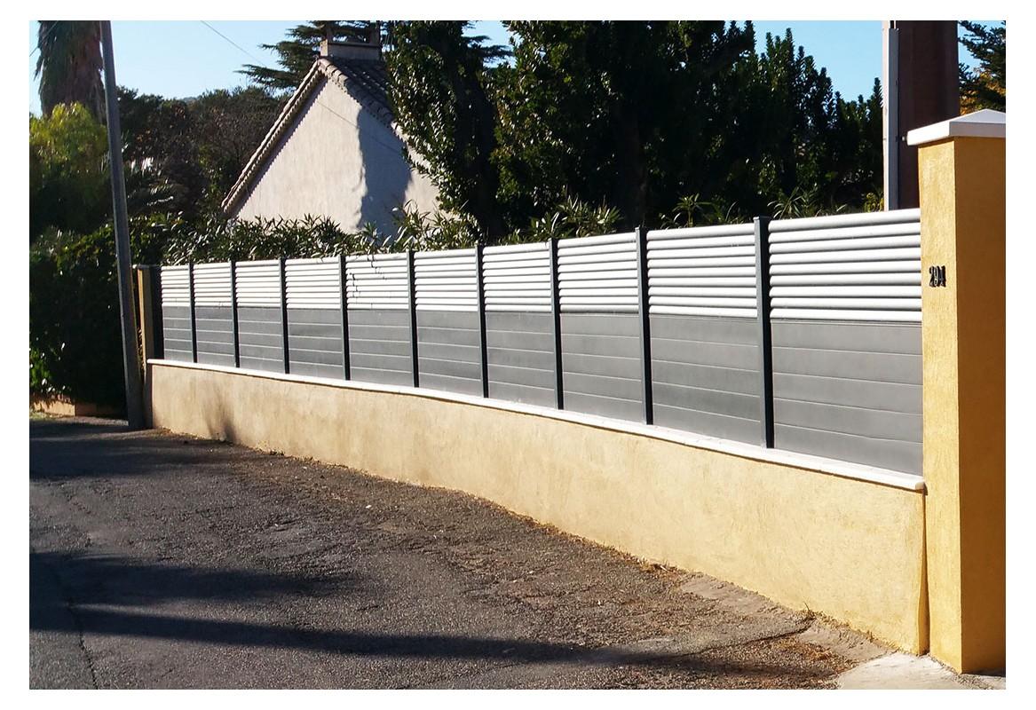 D couvrez nos cl tures pack lames aluminium en kit for Cloture acier ou aluminium