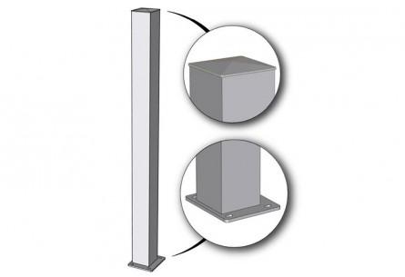 Poteaux 15 x 15 cm sur platine acier ou aluminium