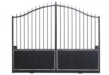 Portail acier pré-peint noir Breteuil