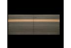 Filling, ex de remplissage horizontal plein avec lames composites de terrasse, 2 couleurs différentes