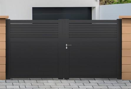 portail alu battant et coulissant dominica roy. Black Bedroom Furniture Sets. Home Design Ideas