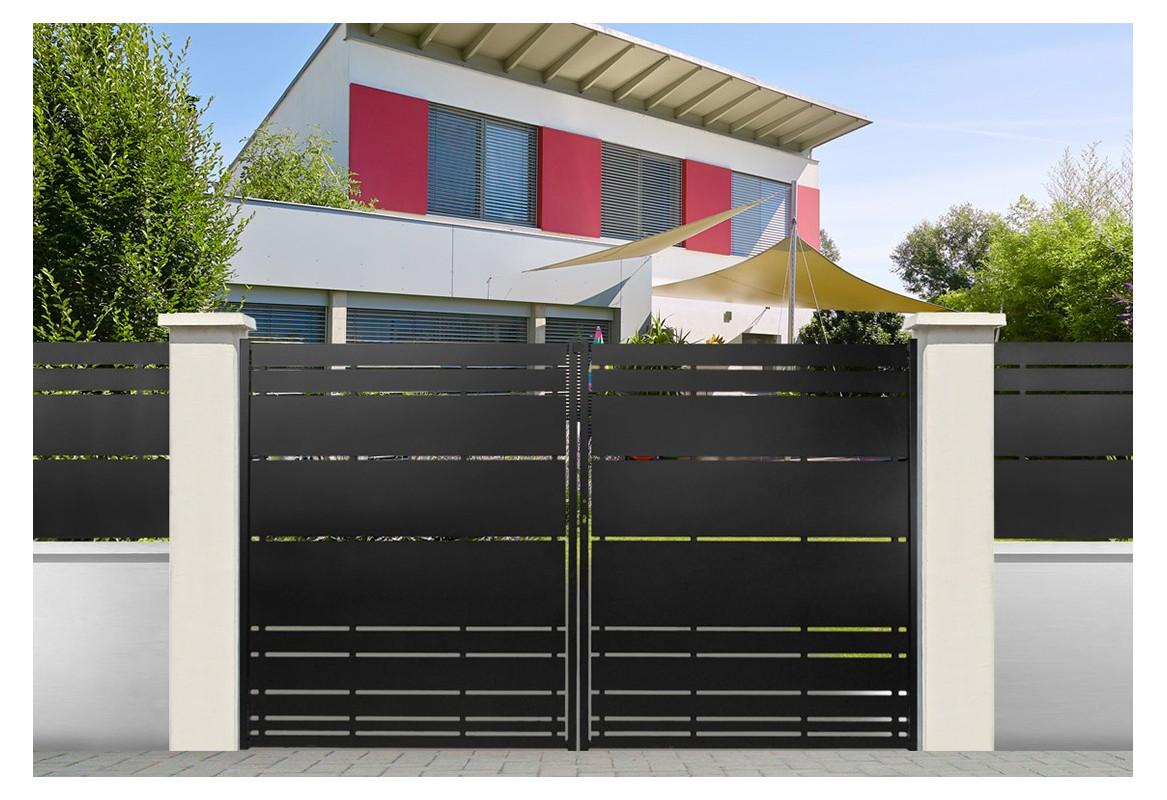 portail battant et portail coulissant acier himalia roy. Black Bedroom Furniture Sets. Home Design Ideas