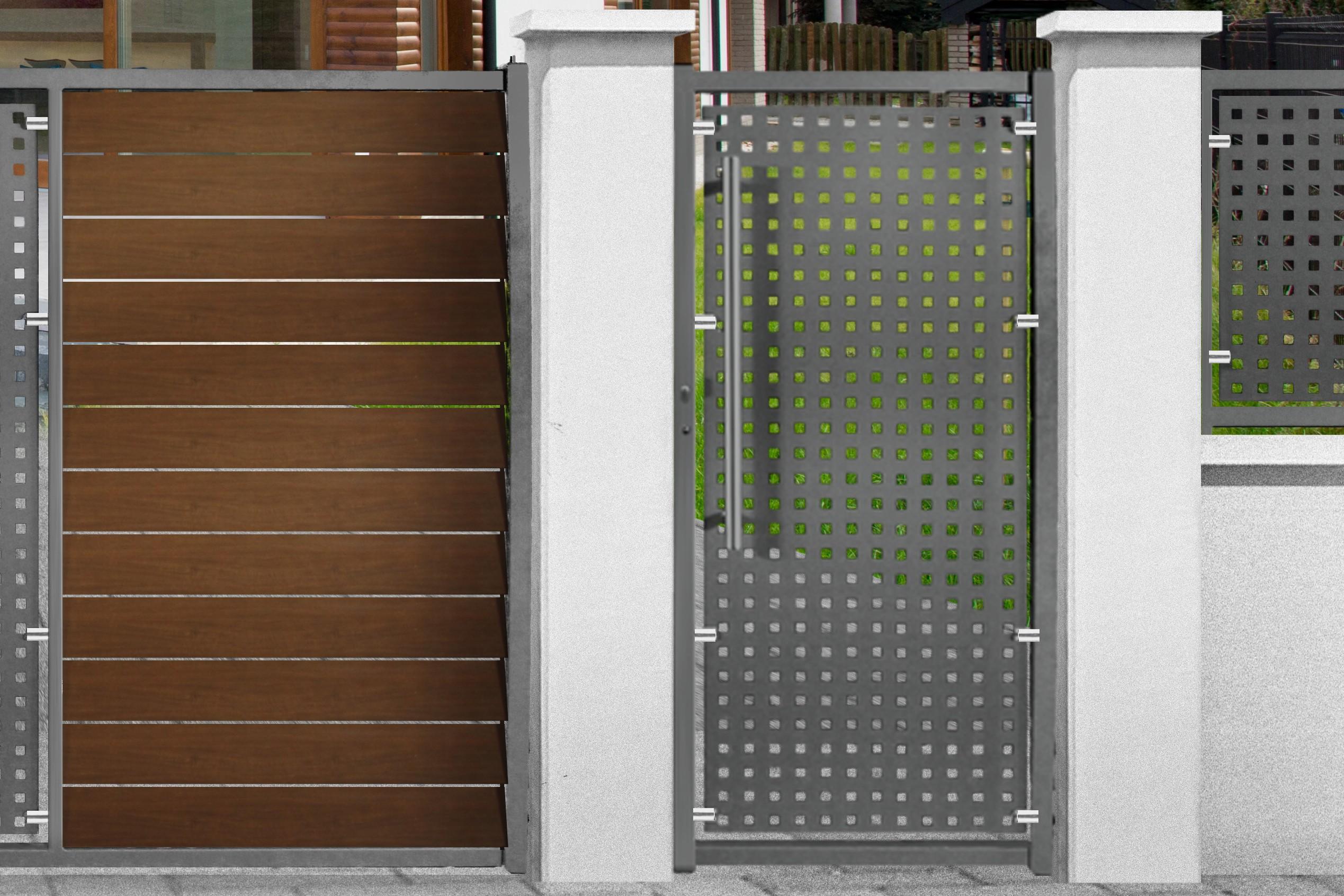 Portillon acier plein portillon jardin largeur 90 cm | Atsplus