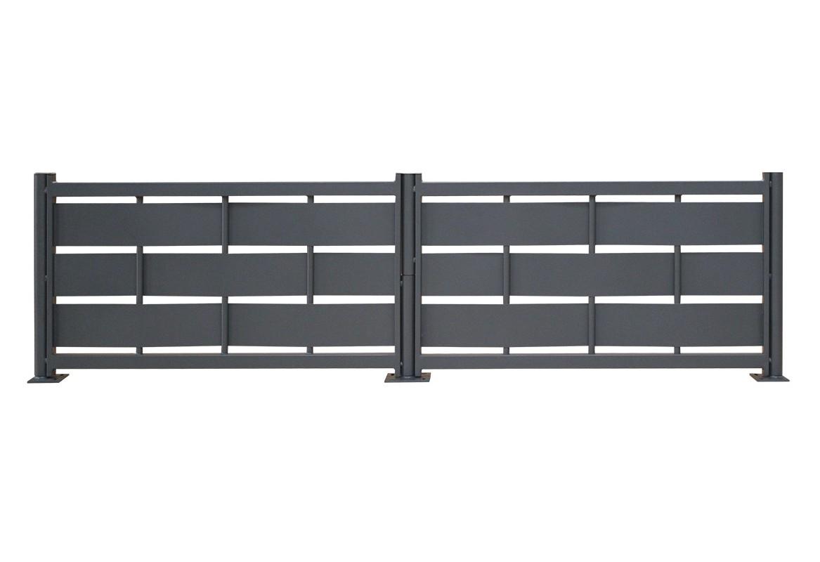 Cl ture acier galvanis eria ajour roy for Portail acier galvanise ou aluminium
