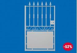 Portillon Dampierre en acier galvanisé et thermo-laqué blanc RAL 9010