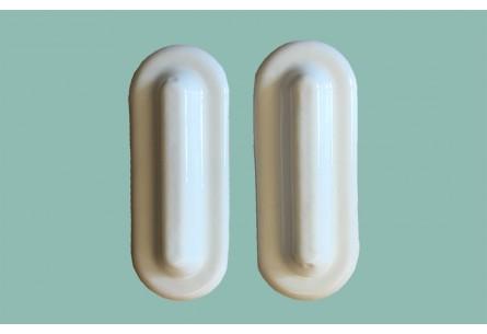 2 plaques de renfort blanches