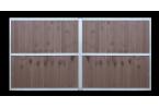 Sherwood version cadre seul + exemple de remplissage lames composite marron